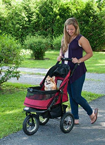 Pet Gear Hundebuggy, ohne Reißverschluss, Rot -