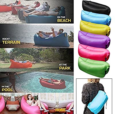 Life is a journey Inflatable Beach Lounger Sofa Air Bed Festival Camping Travel Holiday Laybag - low-cost UK sofabed shop.