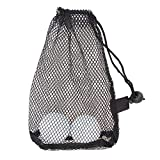 Demiawaking Nylon Mesh Nets Bag Pouch Golf Tennis 15 Ball Carrying Holder Storage Durab