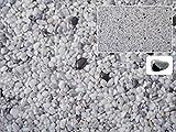 Natursteinteppich-Fliese Exclusive Dekor : METALL Hellgrau versetzt mit Heilstein Hämatit - flexible Bodenfliese für Innen und Außen aus italienischem Marmorkies, Teppichfliese, Marmorteppich, Terassenboden - 1m² Paket (4 Stück 50x50 cm)