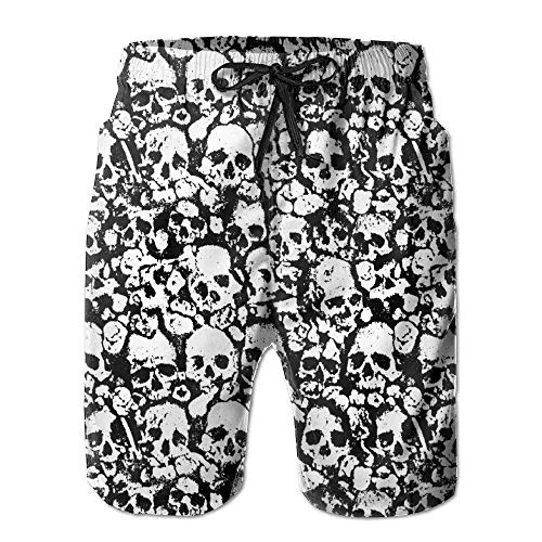 Desing shop Men's Skull Board Shorts Swim Trunks XX-Large Glory Boys Jeans