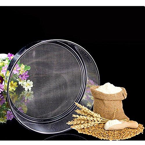 Bazaar 21cm Mehl Geschenkband aus Drahtgeflecht Edelstahl Sieb professionelles Werkzeug