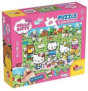 Lisciani Giochi 60818-Puzzle Super Stickers 48Hello Kitty