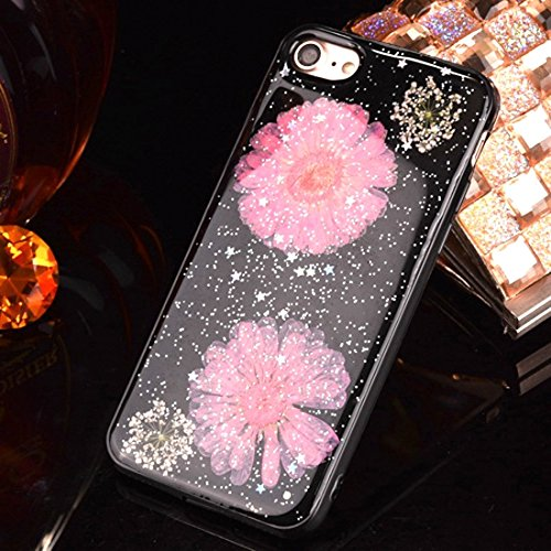Pour iPhone 6 Plus / 6s Plus, Epoxy Dripping Pressed Real Dried Flower Housse de protection TPU Soft Case arrière JING ( SKU : Ip6p2295l ) Ip6p2295f