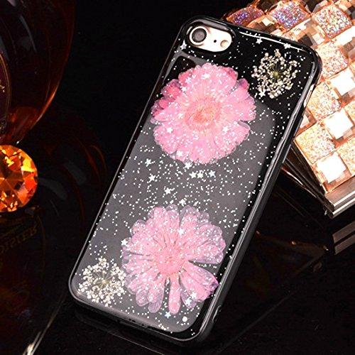 Phone case & Hülle Für iPhone 6 Plus / 6s Plus, Epoxy Dripping gepresst echte getrocknete Blume weichen TPU Schutzhülle rückseitige Abdeckung ( SKU : Ip6p2295a ) Ip6p2295f