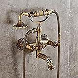 Rubinetto del lavandino del bagno europeo rame antico semplice rubinetto vasca da bagno retrò