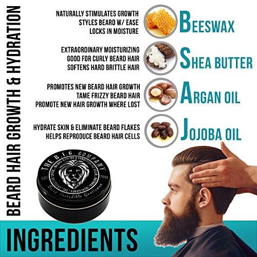 B.I.G. Beard Balm - Bartbalsam für Bärte, Schnurrbärte & Spitzbärte Abbildung 2