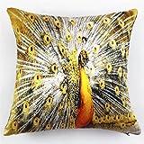 LHWY Peacock Pillow Case Sofa Waist Throw Cushion Cover Home Decor (G)