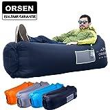 ORSEN Luft Sofa Couch, Wasserdichtes aufblasbares Sofa, Air Lounger mit Tragebeutel und integriertem Kissen für Indoor oder Outdoor