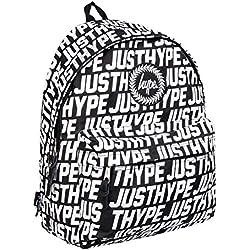 Hype Sporting Sólo Hype negro/blanco Mochila Bolso - Ideal Escuela Bolso - Mochila Niño y niña