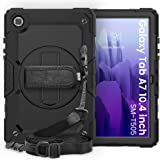Robustrion Armor [Full Body] & [Shock Proof] Case with 360 Rotating Hand Strap for Samsung Galaxy Tab A7 10.4 inch [SM-T500/T