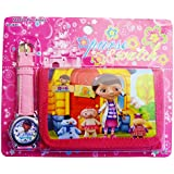 Doc McStuffins Children's Watch Wallet Set For Kids Children Boys Girls Great Christmas Gift Gifts Present - Sold by Happy Bargains Ltd