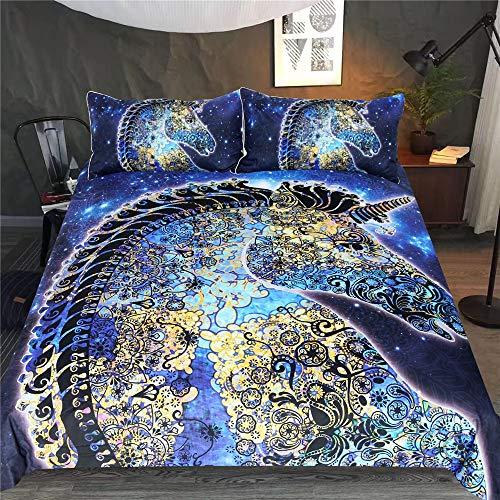 YUNSW Abstrakte Muster 3D Digitaldruck Bettbezug Kissenbezug Einzel Doppelbett Voll Königin King Size Bettwäsche Set B 220x240 cm / 87x94in -