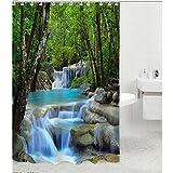 #9: Imported Waterfalls Nature Scenery Shower Curtain Bathroom Waterproof Fabric ...-53000314MG