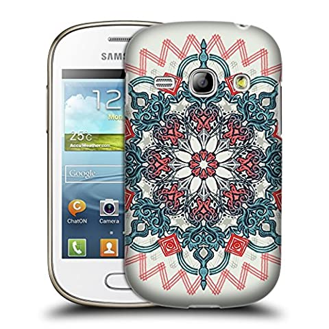 Official Micklyn Le Feuvre Coral And Teal Tangle Medallion Mandala 3 Hard Back Case for Samsung Galaxy Fame S6810