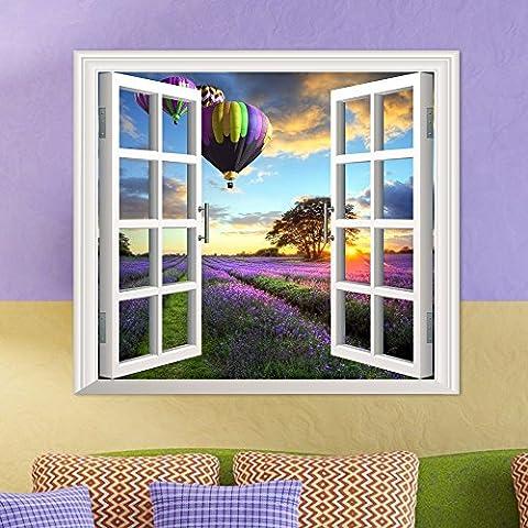 3D stereo parete finestra windows guards pubblicato nella finestra di emulazione soggiorno camera da letto studio dipinti decorano l'hd ,1 autoadesivo
