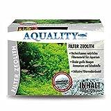 AQUALITY Filter-Zeolith + GRATIS Mikroorganismen (Hochwirksames natürliches Filtermaterial für Ihr Aquarium - Bindet große Mengen Ammonium und Schadstoffe - Inklusive Filtermedienbeutel)