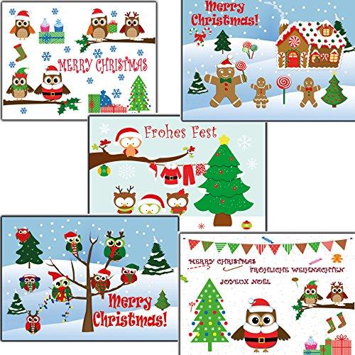 2 Stück Schlitten (10 Stk Weihnachtskarten Eulen Eule nostalgisch Weihnachtspostkarten gemischt verschiedene Motive 2 Stück je Motiv Postkarten Weihnachten Karten Tannebaum Set DIN A 6 15x10 Nostalgie modern Kinder)