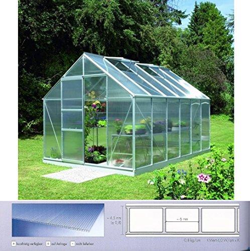 Polycarbonat Hohlkammerplatten 4 mm - Breite 1050 mm für Gewächshäuser (Euro 11,90/qm)