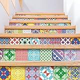 Ambiance-Live - 60Pegatinas Adhesivas para Azulejos, Estilo Mosaico, para Azulejos murales de Cocina y baño, diseño Vintage artístico, 10x 10cm