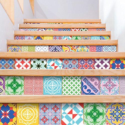 Ambiance-Live 60pegatinas adhesivas para azulejos, estilo mosaico, para azulejos murales de cocina...
