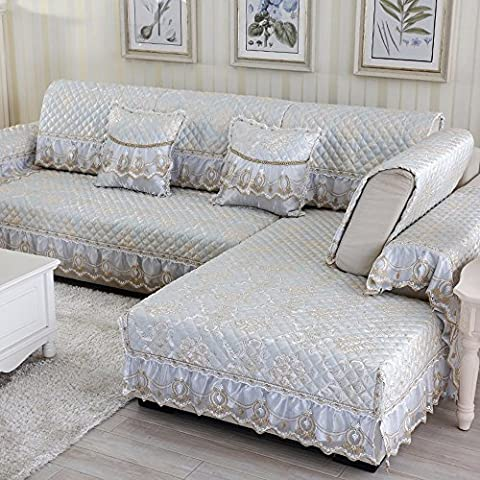European Anti-Slip Sofa Cushion Living Room Four Seasons Universal Fabric Cushion Simple Modern All-Wrapped Solid Wood Sofa