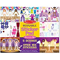 Melissa & Doug Reusable Sticker Pad: Dress-Up - 165+ Reusable Stickers