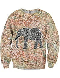 Mr. Gugu & Miss Go ® ⋅ Indian Elephant Suéter ⋅ 3D ⋅ Unisex ⋅ Fullprint ⋅ Impreso ⋅ Multicolor ⋅ Primavera ⋅ Verano ⋅ 2017 ⋅