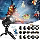Blusmart Lampada a proiezione di Natale 15 modelli a scena Serie con proiettore impermeabile a LED con telecomando, decorazione all'aperto o interna per la festa di Natale