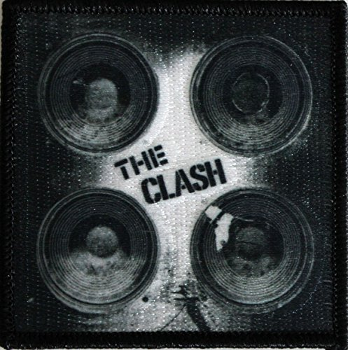 """THE CLASH Speakers, Officially Licensed Original Artwork, Premium Quality Iron-On / Sew-On, 3"""" x 3"""" Embroidered PATCH toppa"""