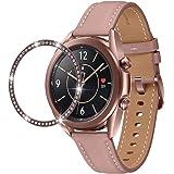 @ccessory Rhinestone Bezel Ring Anti-scratch Protection for Samsung Galaxy Watch 3 41mm (Galaxy Watch 3 41mm, Rose Gold)