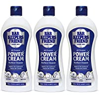Bar Keepers Friend Universal Multi Surface Cleaner Stain Remover Power Cream (Pack of 3, 350ml)