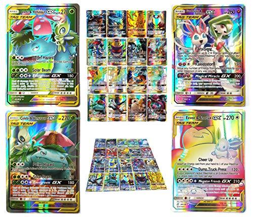 2019 Nouvelles 100 Pcs Cartes Pokemon GX Jeu Flash De Cartes À Collectionner Cartes Pokémon ÉTIQUETTE OBLIGATIONS ÉQUIPÉES ÉQUIPE Style TCG Holo Jeu de Cartes Puzzle