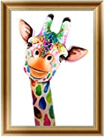 Qiman DIY 5D Giraffe Diamond Embroidery Painting Cross Stitch Art Craft Home Decor