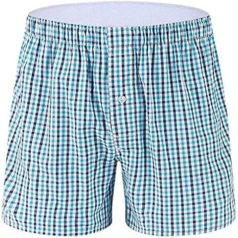 Gillbro Pantalones cortos de algodón para hombre de la tela escocesa boxeador del sueño