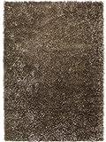 Handgefertigter Teppich Cool Glamour in Braun Teppichgröße: 120 x 180 cm