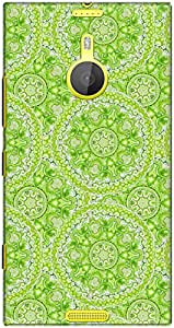 The Racoon Lean printed designer hard back mobile phone case cover for Nokia Lumia 1520. (doily wate)