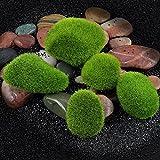 YUYOUG_Aquarium yuyoug Micro Landschaft Miniatur Fairy Garden Ornament Künstliche Fake Moos Rasen Mossy Stein Faux Modell Spielzeug DIY Zubehör, 3pack(l,m,s), Einheitsgröße