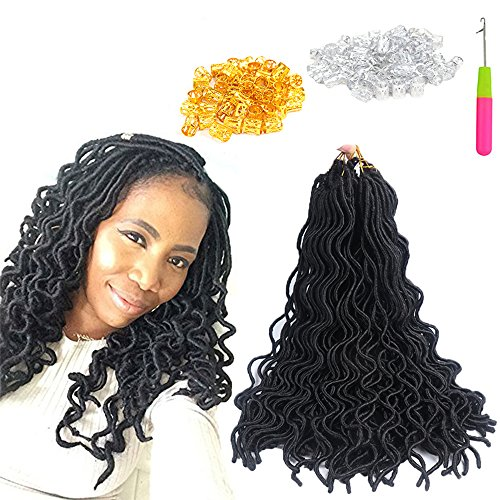 Curly Faux locs 20 \\