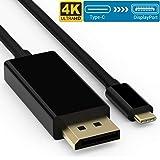 Elegear Cable USB C a DisplayPort 4K@60HZ, USB 3.1 Tipo C a DP Cable Compatible con iPad Pro/Macbook Air 2018, MacBook Pro 20