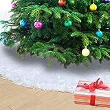 Naler Weihnachtsbaumdecke Schneeweiß Weihnachtsbaum Unterlage Christbaum Platz Decke, ?122cm -