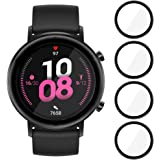 MI-KOU 【4 stuks】 Beschermfolie compatibel met Huawei Watch GT2 42mm, [krasbestendig], [luchtbelvrij], [eenvoudige applicatie]
