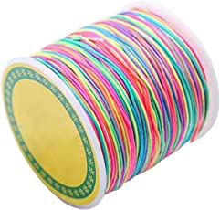 SUPVOX 100m Stretch Thread 1mm Elastic Cord Beading Thread Stretch String Multicolor