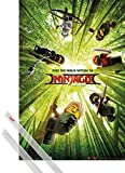 1art1 Poster + Hanger: The Lego Ninjago Movie Poster (91x61 cm) Finde Den Ninja In Dir, Teaser Inklusive EIN Paar Posterleisten, Transparent