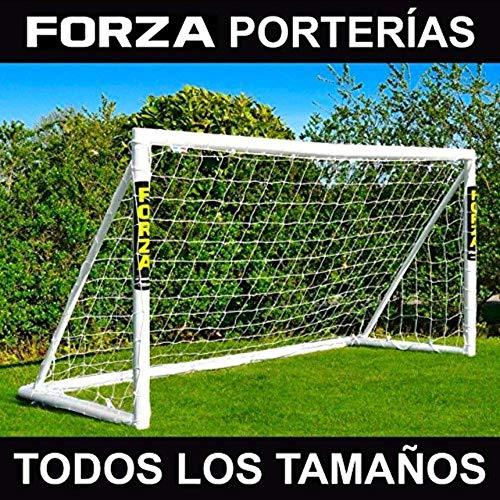 FORZA Porterías de Fútbol PVC para Jardín/Entrenamientos - Postes de Fútbol Impermeables con Red...