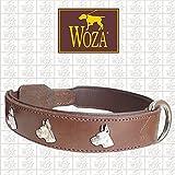 Woza Exclusive HUNDEHALSBAND 3,8/85CM DEUTSCHE DOGGE Vollleder Rindleder Nappa Handmade Collar
