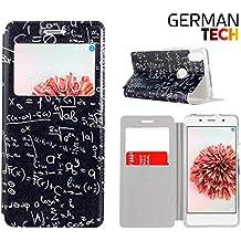 German Tech® - Funda carcasa tipo Libro con función soporte sin solapa para Bq Aquaris X5 Plus, Protege y se adapta a la perfección a tu Smartphone con ventana S-View con la que podrás ver todas tus notificaciones. Fórmulas Matemáticas.