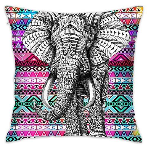surce India Elefante Suave Asiento cómodo Funda de Almohada Cojines Cojín Hogar Decorativo Funda de Almohada 18'X 18'
