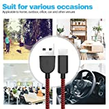 ActionPie USB Type C Cable 5-Pack(3/3/6/610ft) USB C Cable Nylon Braided Long Cord USB Type A to C Fast Charger for Macbook, LG G6 V20 G5,Google Pixel, Nexus 6P 5X, Samsung Galaxy S8+(Black&Red) Bild 2