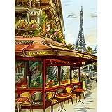 Poster / Tela Canvas - Vintage Francia Parigi Paris - Torre Eiffel Illustrazione a Mano - 50x70cm - Carta Fotografica